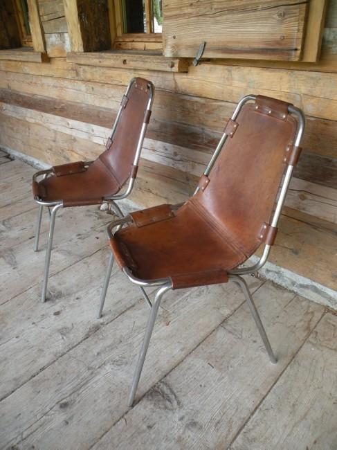 chaises les arcs par charlotte perriand. Black Bedroom Furniture Sets. Home Design Ideas